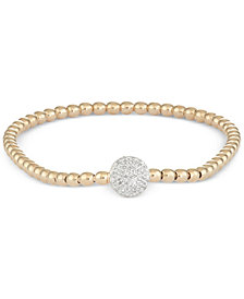 wrapped™ Diamond Dot Stretch Bracelet (1/6 ct. t.w.) in 14k Gold over Sterling Silver, Created for Macy's