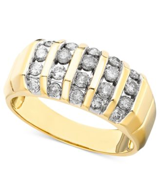 Mens Diamond Ring in 14k Gold 1 ct tw Rings Jewelry