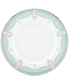 Empire Pearl Turquoise Bone China Salad Plate