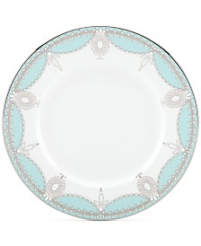 Marchesa by Lenox Empire Pearl Turquoise Bone China Salad Plate