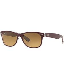 Ray-Ban Polarized Sunglasses, RB2132 55 New Wayfarer Gradient