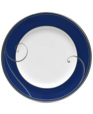 Platinum Wave Indigo Porcelain Bread & Butter Plate