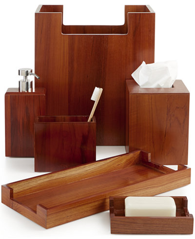 hotel collection teak wood bath accessories created for macys