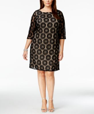 Jessica Howard Plus Size Lace Shift Dress