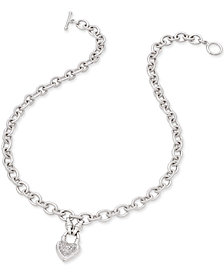 Diamond Heart Pendant Necklace (1/4 ct. t.w.) in Sterling Silver