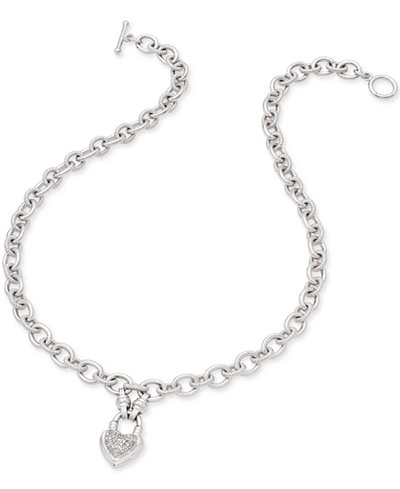 Diamond Heart Pendant Necklace (1/4 ct. t.w.) in Sterling Silver