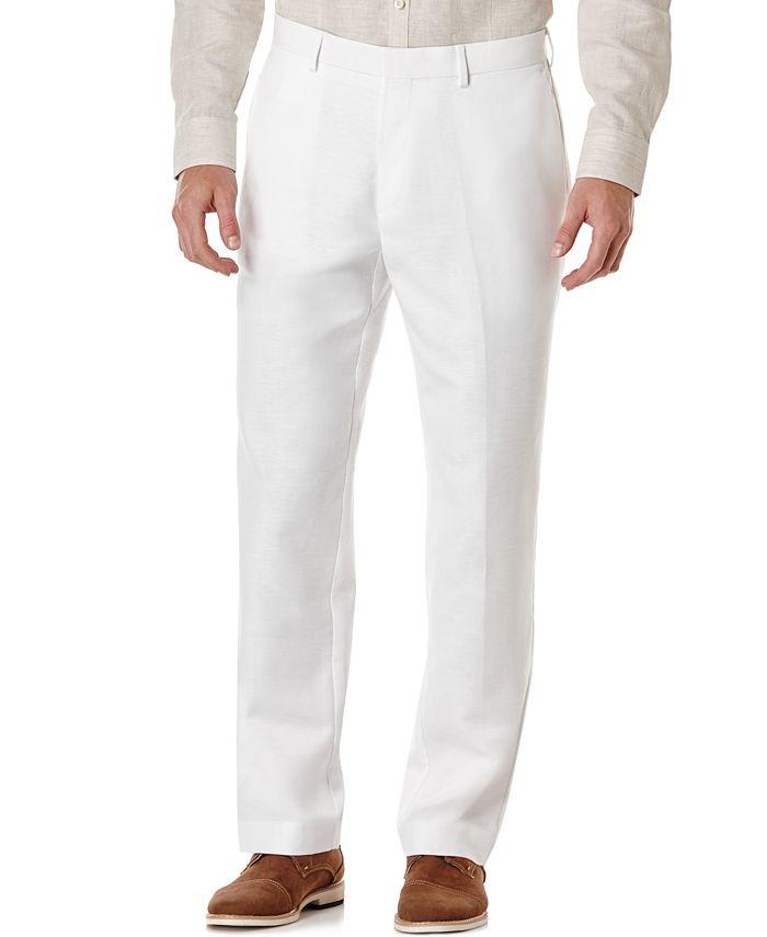 Cubavera - Flat Front Linen Pants