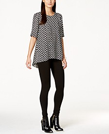Vince Camuto Printed Pleated-Back Blouse & Ponte-Knit Leggings