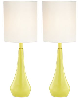 Pacific coast set of 2 yellow metal table lamps created for macys