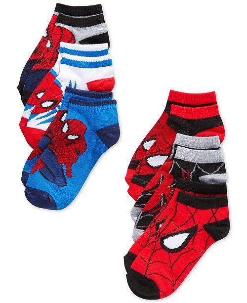 a21ba67c7 Marvel Spider-Man Athletic Socks, 6-Pack, Little Boys & Big Boys ...