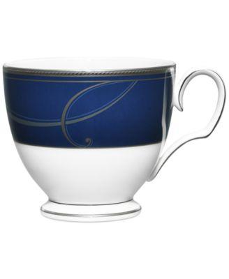 Platinum Wave Indigo Collection Porcelain Cup