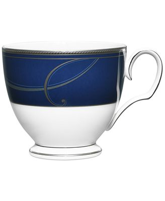 Noritake Platinum Wave Indigo Collection Porcelain Cup