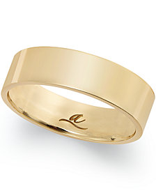 6MM Wedding Band in 18k Gold