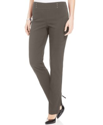 Image of JM Collection Regular and Short Length Studded Pull-On Pants, Created for Macy's
