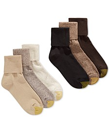 Women's Turn Cuff  6 Pack Socks, also available in Extended Sizes