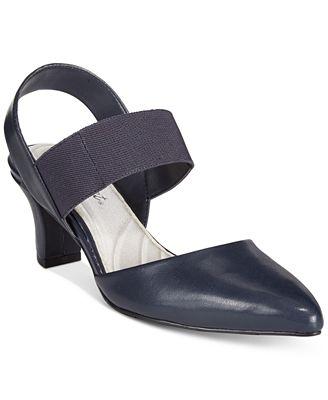 Easy Street Vibrant Kitten Heel Slingback Pumps - Pumps - Shoes ...