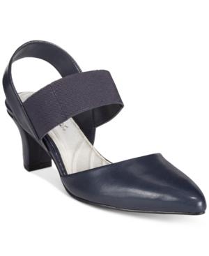 Easy Street Vibrant Kitten Heel Slingback Pumps Women's Shoes