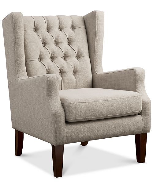 Madison Park Stedman Fabric Accent Chair, Quick Ship