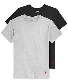Polo Ralph Lauren 2-Pk. Crew-Neck Undershirts, Big Boys