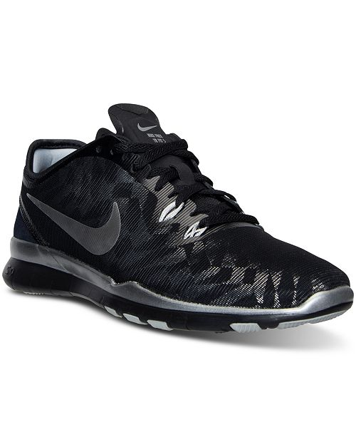 pretty nice da82c d6575 ... Nike Women s Free 5.0 TR Fit 5 Metallic Training Sneakers from Finish  ...