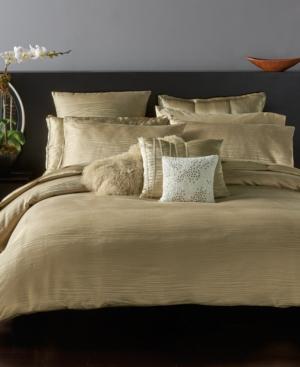 Image of Donna Karan Home Reflection Gold Dust Full/Queen Duvet Cover Bedding