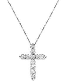 Diamond Cross Pendant Necklace (2 ct. t.w.) in 14k White Gold