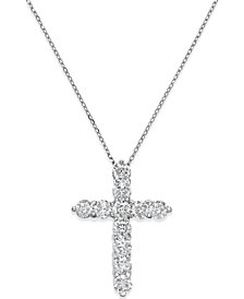 Diamond Cross Pendant Necklace (2 ct. t.w.) in 14k White Gold