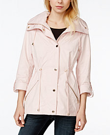 GUESS Adjustable-Waist Hooded Anorak