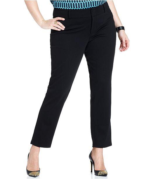 d2e45f86db6 Michael Kors Plus Size Skinny Ankle Ponte Pants   Reviews - Pants ...