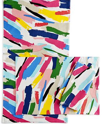 Kate Spade New York Brush Strokes Table Linens Collection Table - Kate spade table linens