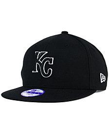 New Era Kids' Kansas City Royals Black White 9FIFTY Snapback Cap