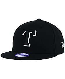 Kids' Texas Rangers Black White 9FIFTY Snapback Cap