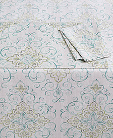 "Lenox French Perle Charm Collection 84"" Oblong Tablecloth"