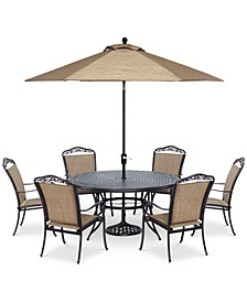 "Beachmont II Outdoor 7-Pc. Dining Set (60"" Round Table,and 6 Dining Chairs),  Created for Macy's"