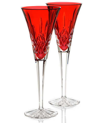 Waterford stemware colour me lismore toasting flutes set of 2 all glassware drinkware - Waterford colored wine glasses ...