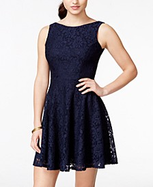 Juniors' Lace Fit & Flare Tank Dress, Created for Macy's