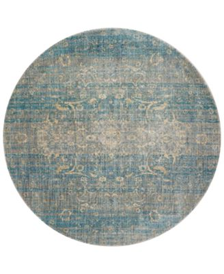 "Andreas   AF-10 Light Blue/Mist 5'3"" Round Rug"