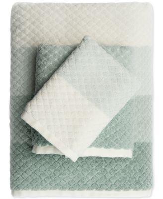 Paloma Diamond Stripe Bath Towel