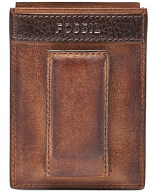 Quinn Magnetic Card Case Leather Wallet