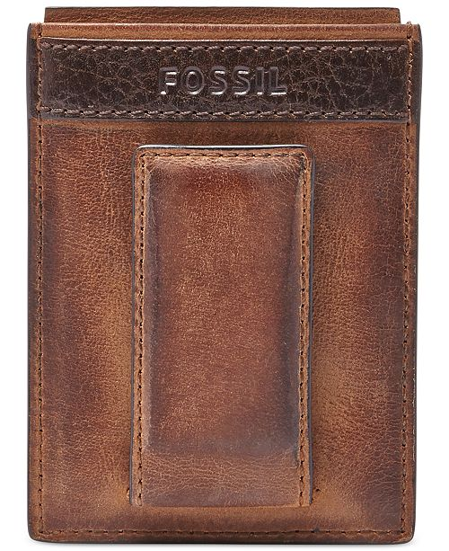 Fossil quinn magnetic card case leather wallet all accessories main image main image colourmoves