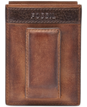 quinn magnetic card case leather