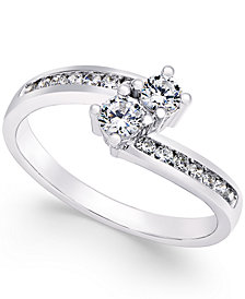 Two Souls, One Love® Diamond Anniversary Ring (3/4 ct. t.w.) in 14k White Gold