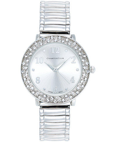 Charter Club Women's Stainless Steel Stretch Bracelet Watch 31mm, Only at Macy's