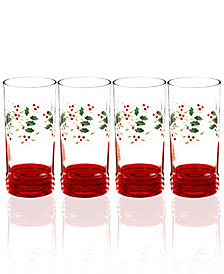 Pfaltzgraff Winterberry Set of 4 Highball Glasses