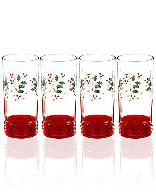Pfaltzgraff Winterberry Highball Glass, Set of 4