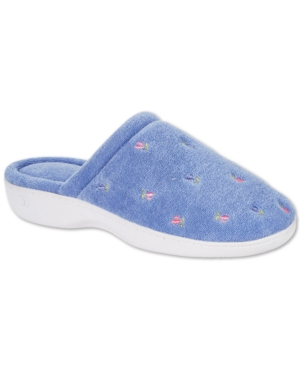 Women's Embroidered Floral Terry Slippers