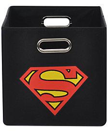 Superman Logo Blue Folding Storage Bin