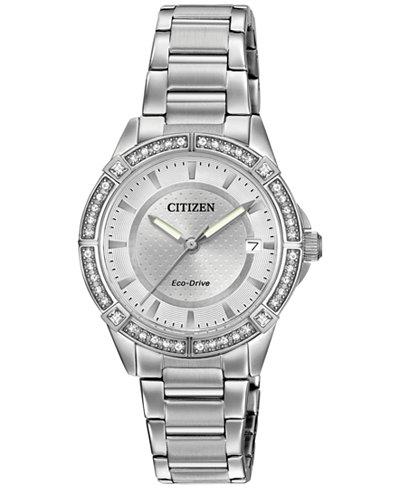 Citizen Women's Eco-Drive Stainless Steel Bracelet Watch 34mm FE6060-51A