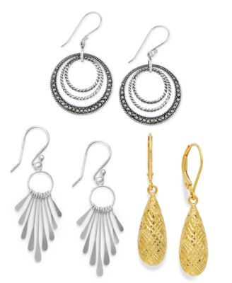 Filigree Teardrop Earrings in 18k Gold over Sterling Silver and or Sterling Silver