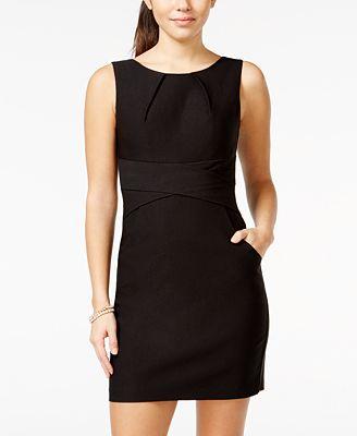 Teeze Me Juniors Sleeveless Sheath Dress - Juniors Dresses - Macy's
